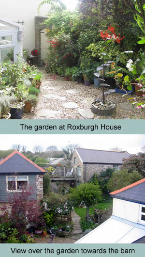 The garden at Roxburgh House